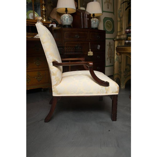 Mid 19th Century English Mahogany Upholstered Library Chairs For Sale - Image 5 of 8