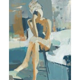 """Image of """"Daily Thoughts"""" Contemporary Abstract Figurative Giclee Print by Donna Weathers 18x24 For Sale"""