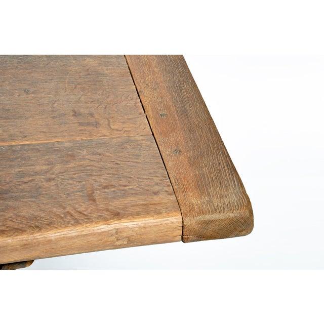 19th Century Swiss Oak Wood Farm Table For Sale - Image 9 of 13