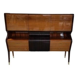 1940s Vintage Mid Century Modern Osvaldo Borsani Mahogany Storage Cabinet For Sale