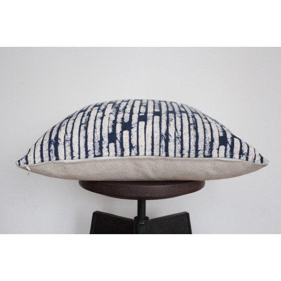 Hmong Indigo Hemp Pillow Cover - Image 3 of 4