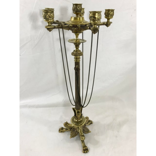 Traditional Charles X Bronze Candelabra a Pair For Sale - Image 3 of 11