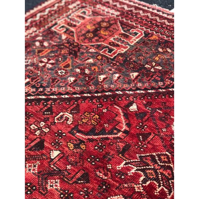 "Vintage Persian Qashghi Rug - 5'1""x8' - Image 7 of 9"