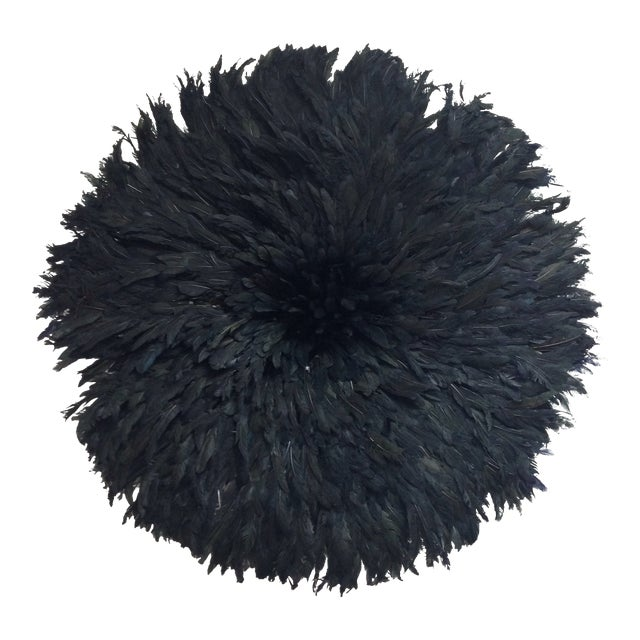 Modern Authentic Cameroon Black Juju Hat For Sale