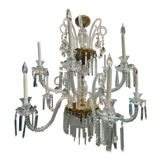 Antique Gold Water Gilded Crystal Chandelier For Sale