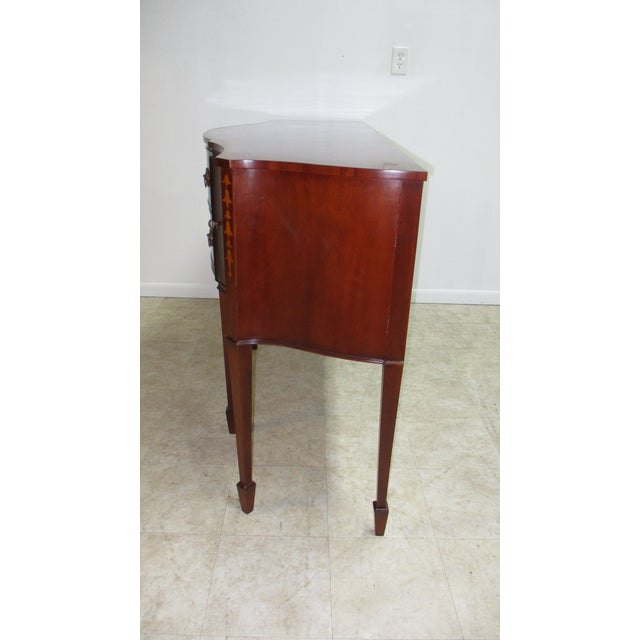 1990s Mahogany Federal Banded Sideboard For Sale - Image 10 of 13