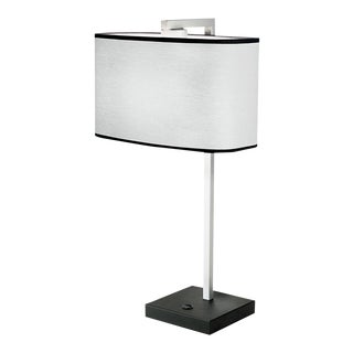Satin Black and Aluminium Table Light For Sale