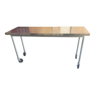 Rolling Stainless Steel Table For Sale