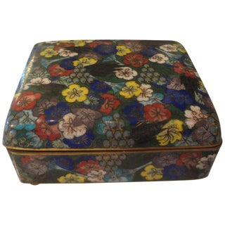 1920's Vintage Chinese Export Cloisonne Box For Sale