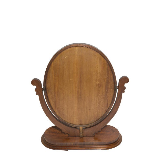 Antique Oval Table Mirror For Sale - Image 5 of 5