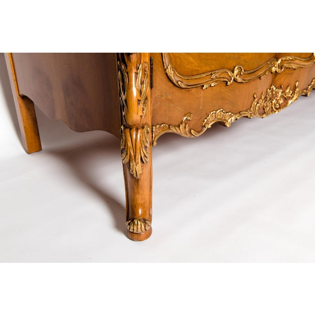 Gold 20th Century Burlwood Sideboard with Gold Design Details For Sale - Image 8 of 12