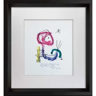1950s Vintage Joan Miro Original Signed & Inscribed Lithograph Print For Sale