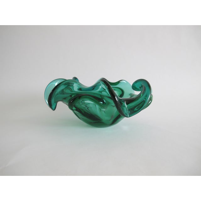 Teal Murano Decorative Glass Bowl - Image 2 of 3