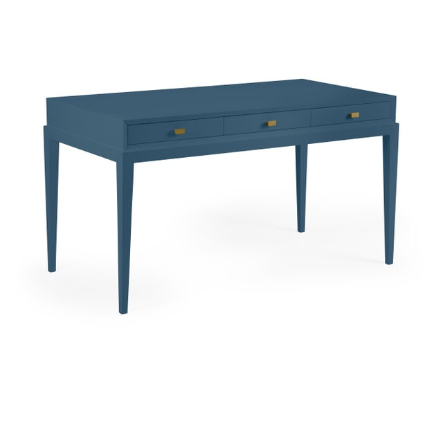 Transitional Casa Cosima Hayes Desk, Van Deusen Blue For Sale - Image 3 of 3