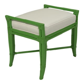 Small Malacca Bench - Bright Green For Sale