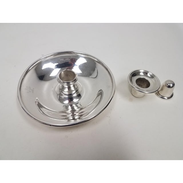 Mid 19th Century Antique English Elkington Candle Holder For Sale - Image 5 of 10