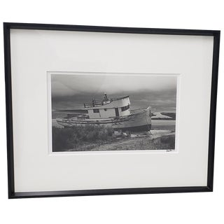 """Richard Blair """"Shipwrecked Boat - Tomales Bay"""" Photograph C. 2000 For Sale"""