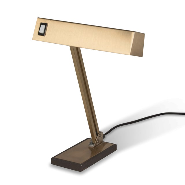 Vintage German 1960s Bronze Pivoting Desk Lamp - Image 2 of 10