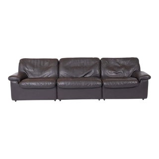 De Sede Leather Ds 66 Sofa For Sale