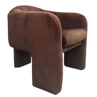 Three-Legged Architectural Armchair by J. Schellenberg Interiors For Sale