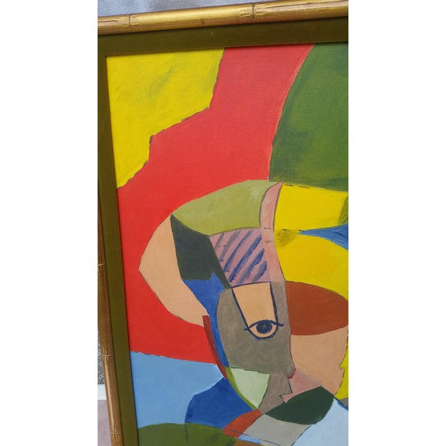 Vintage Abstract Painting From the 1960s - Image 6 of 8