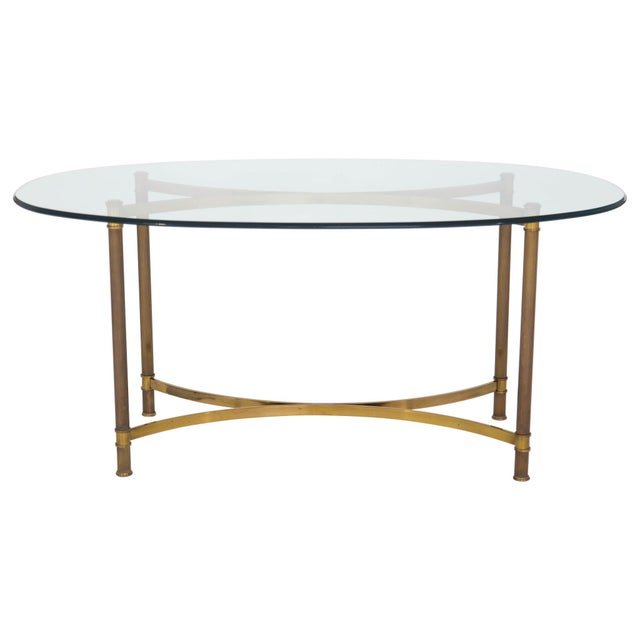 Oval Brass & Glass Dining Table - Image 8 of 9