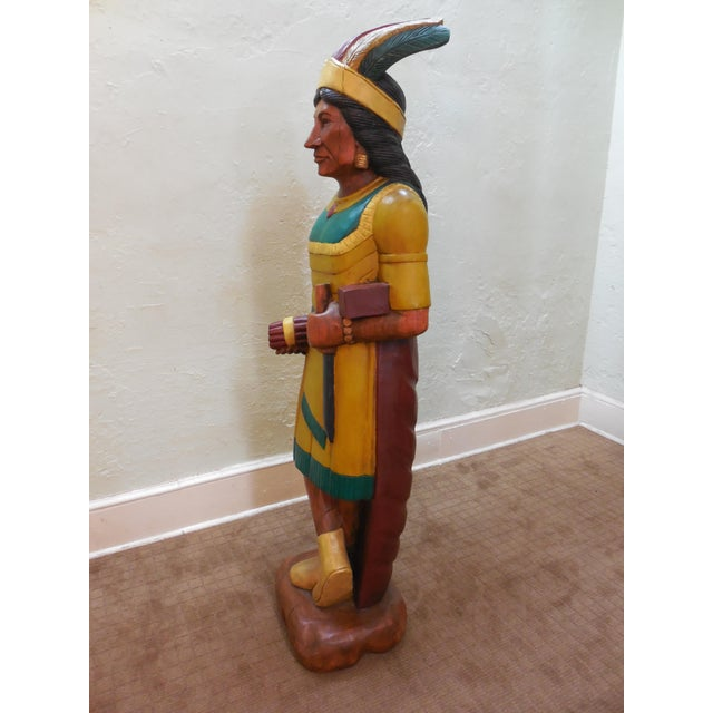Hand Carved Wood Large Cigar Shop Indian Squaw