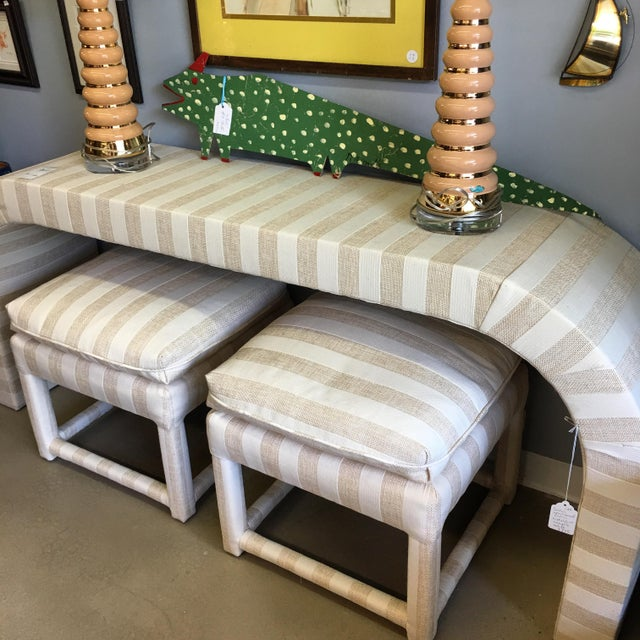 Vintage 1970s Waterfall Console Table - Image 7 of 11