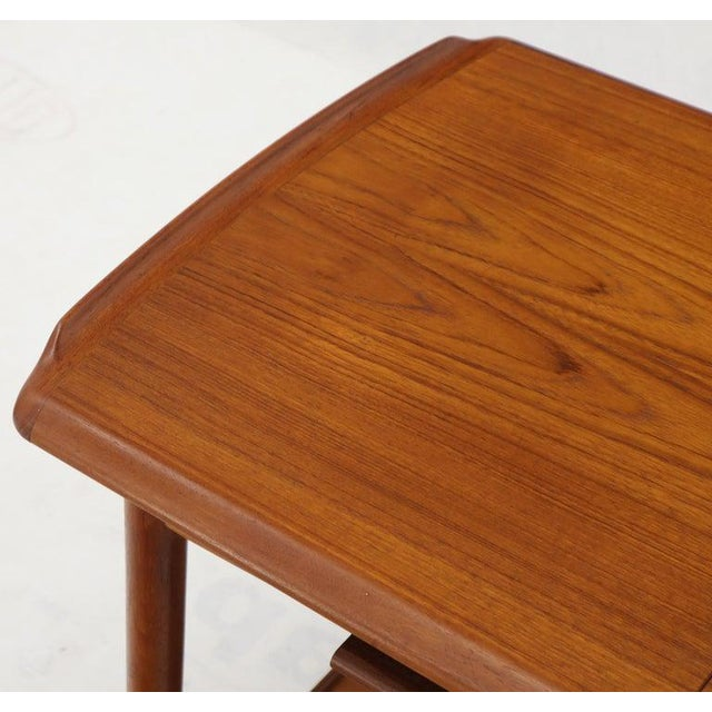 Mid-Century Modern Danish Mid-Century Modern Teak Expandable Cart With One Leaf For Sale - Image 3 of 13