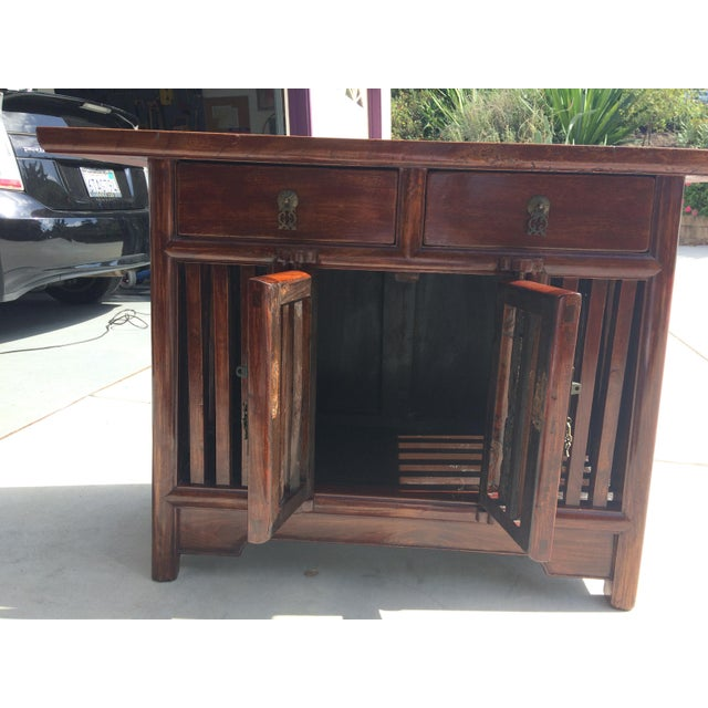 Asian Solid Wood Cabinet - Image 3 of 9