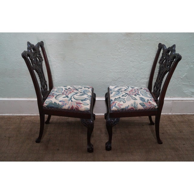 Honduras Mahogany Carved Dining Chairs - Set of 8 - Image 3 of 10