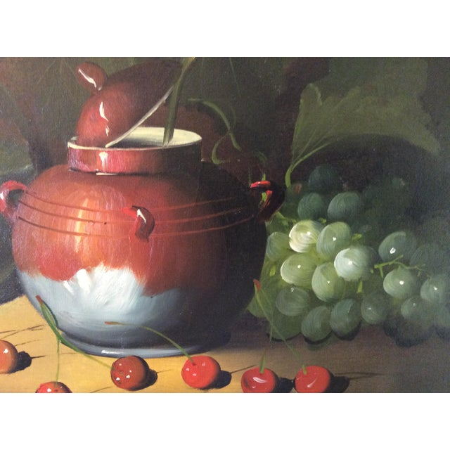 Realism Mid-Century Frank Lean Still Life in Oil For Sale - Image 3 of 13