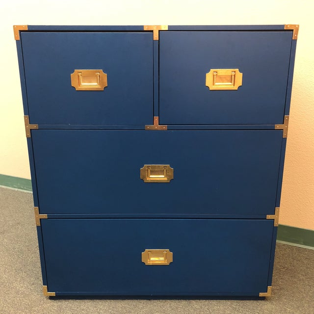 Blue Campaign Style Chest of Drawers - Image 2 of 7