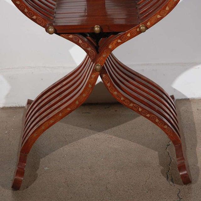 Moorish Syrian Brass Inlaid Armchair For Sale - Image 4 of 8