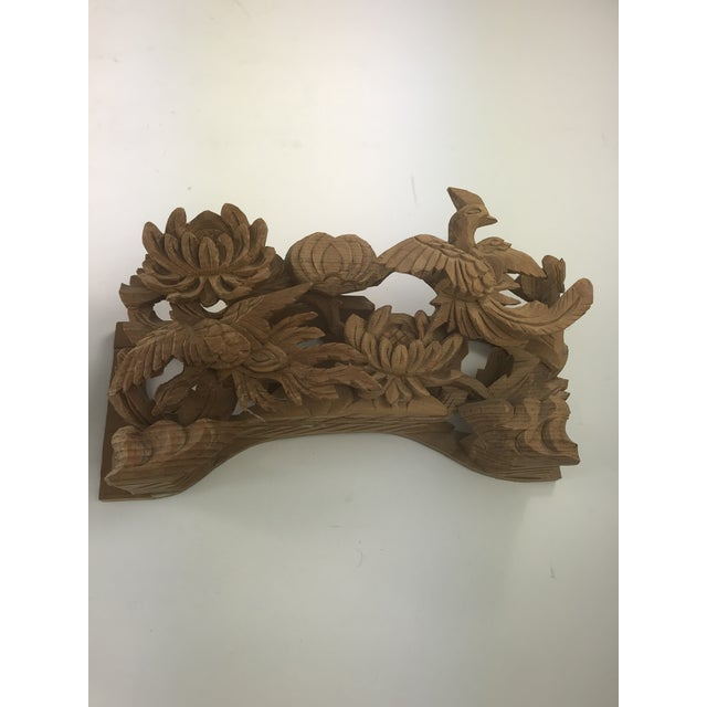 1980s Vintage Chinese Wood Carving Architectural Pieces- A Pair For Sale - Image 4 of 8