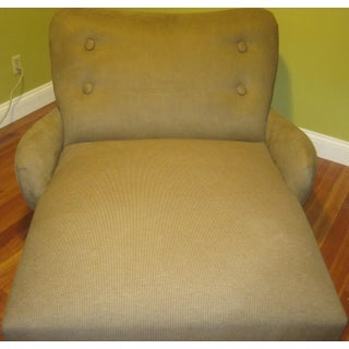 Mid-Century Modern Chic 1960s Extra Wide Chaise Lounge, With Motor, On/Off Switch Preview