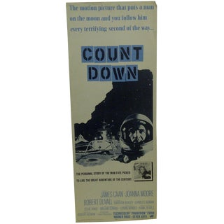 "Vintage ""Count Down"" Movie Poster For Sale"