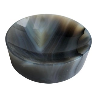1990s Modern Small Agate Bowl For Sale