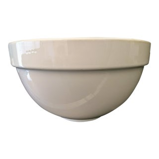 Dansk Glazed Ceramic Glossy White Deep Serving Bowl For Sale