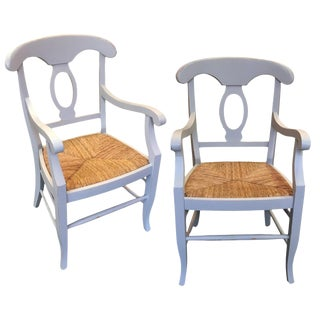 Custom Painted Arm Chairs - a Pair