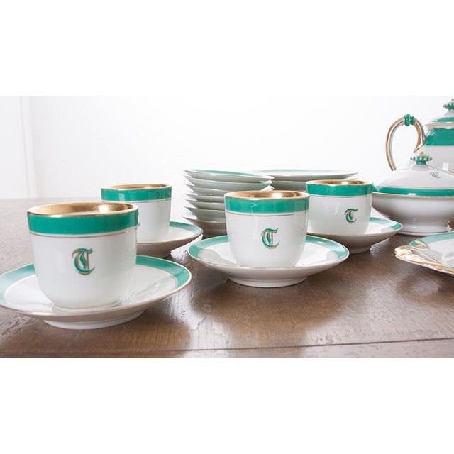 """French 19th Century Old Paris """"T"""" Dessert Service - Set of 33 Pieces For Sale In Baton Rouge - Image 6 of 10"""