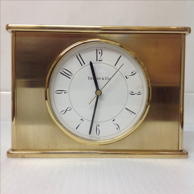 Vintage Tiffany & Co. Brass Mantle Clock - Image 3 of 8