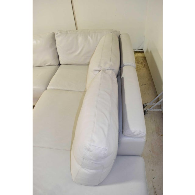 Italian Leather Sectional Sofa For Sale - Image 4 of 9
