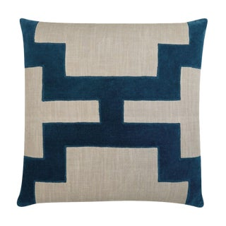 "Piper Collection Blue Velvet ""Catie"" Pillow"