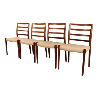 Mid Century Niels Otto Moller Model 85 Rosewood Dining Chairs For Sale