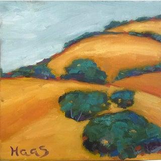 """""""Mount Diablo Gold"""" Plein Air Original Oil Painting For Sale"""