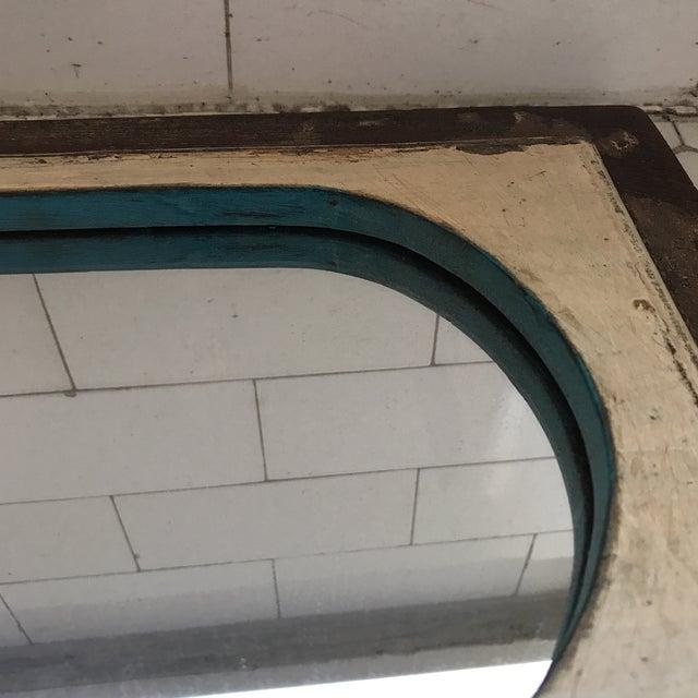 Vintage Indian Archway Painted Teak Mirror - Image 6 of 11