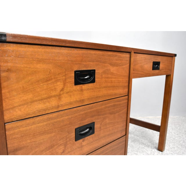 Mid Century Campaign Style Desk by Drexel For Sale In Orlando - Image 6 of 13