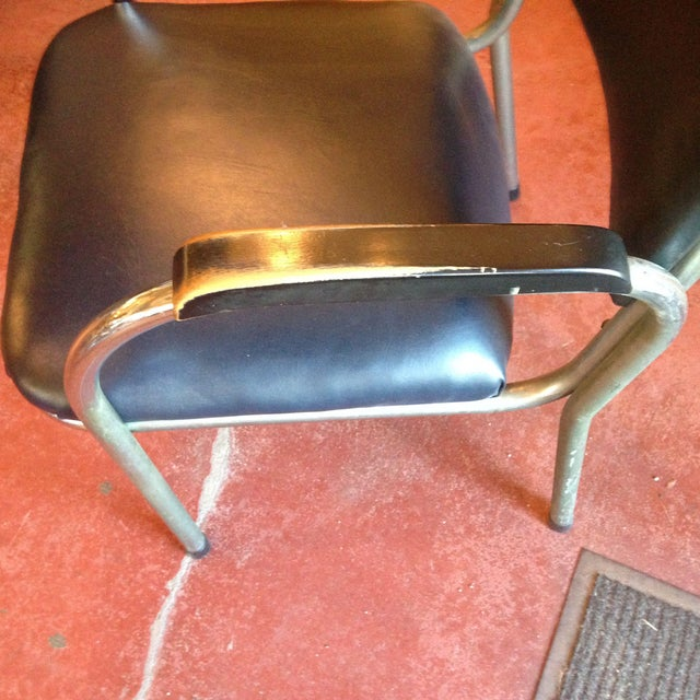 1940s Mid-Century Deco-Style Tubular Chrome Armchairs - a Pair For Sale - Image 5 of 9