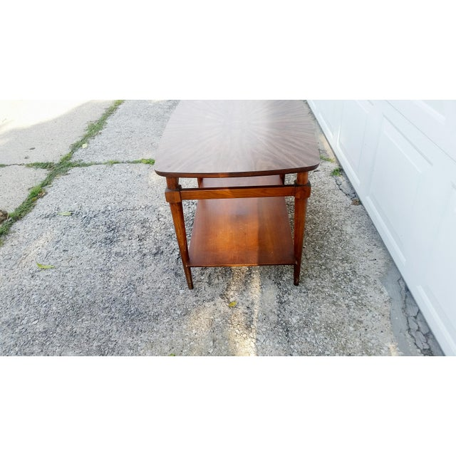 Mid-Century Lane Side Table W/ Laminated Pattern For Sale In Chicago - Image 6 of 6